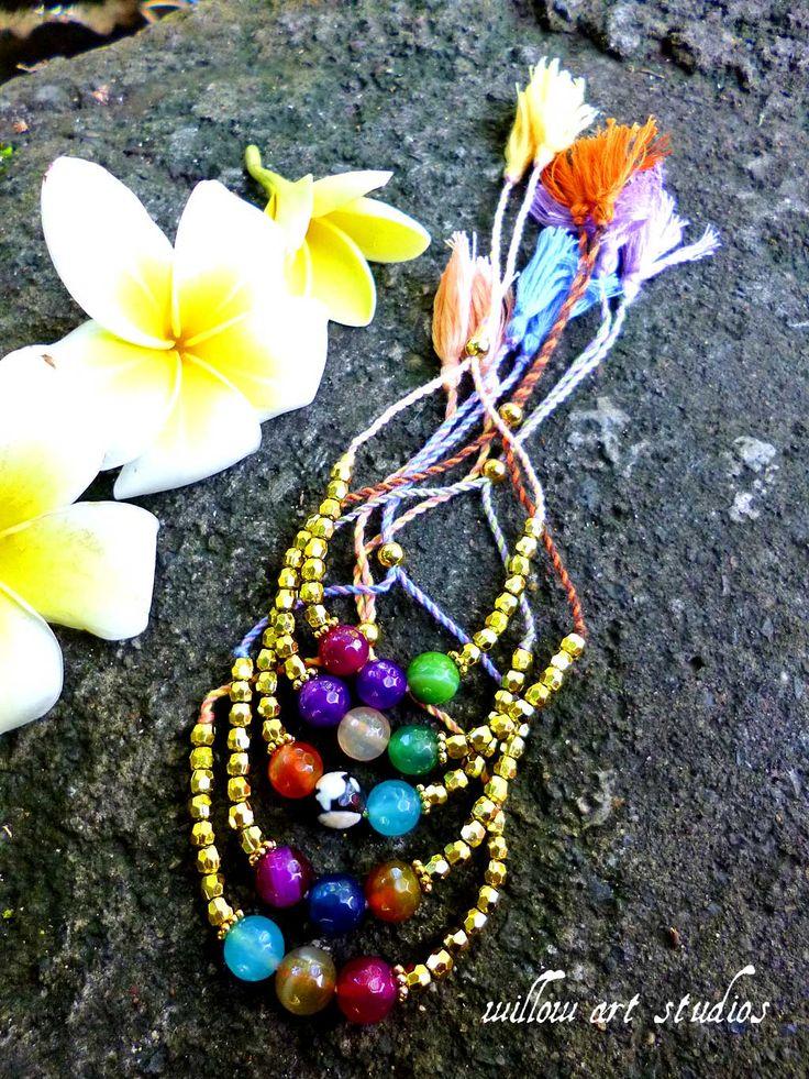 Agates Gold bracelets