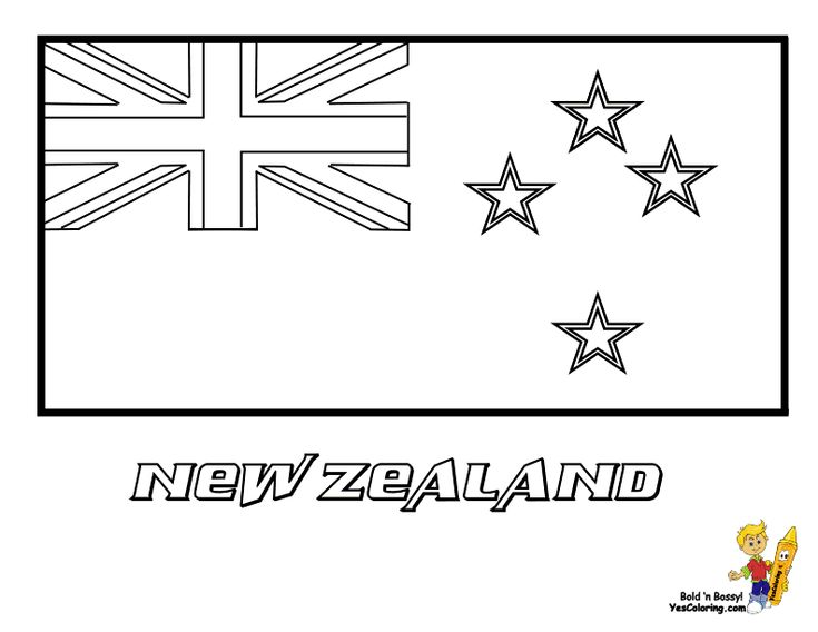 Free National Flag Coloring Sheet Of New Zealand