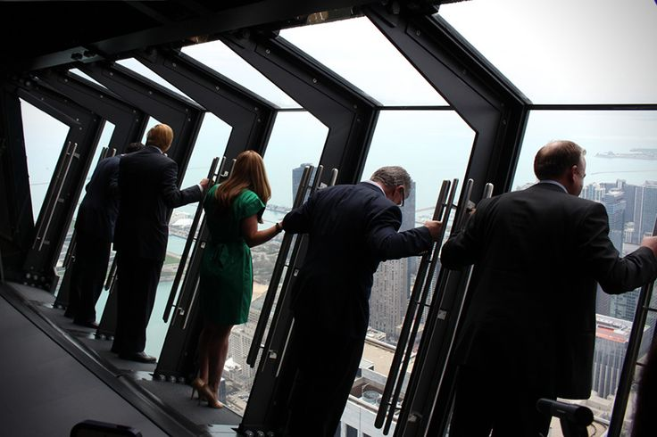 Tilt, A Chicago Sightseeing Attraction That Extends from the Side of the John Hancock Center's 94th Floor