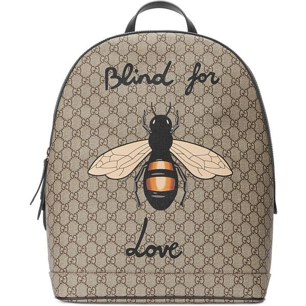 f93b6eac9014 Gucci Bee Print Gg Supreme Backpack ($1,490) ❤ liked on Polyvore featuring  men's fashion, men's bags, men's backpacks, accessories, luggage &  lifestyle ...