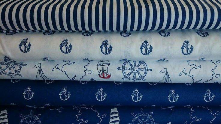 Námořní kolekce , 100% bavlna , šíře 140cm , kvalita 145g/m2, cena 116, - kč /bm