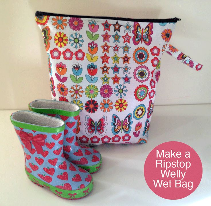 Ripstop welly bag tutorial
