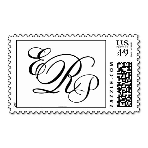 Best Monogram Postage Stamps Images On   Wedding