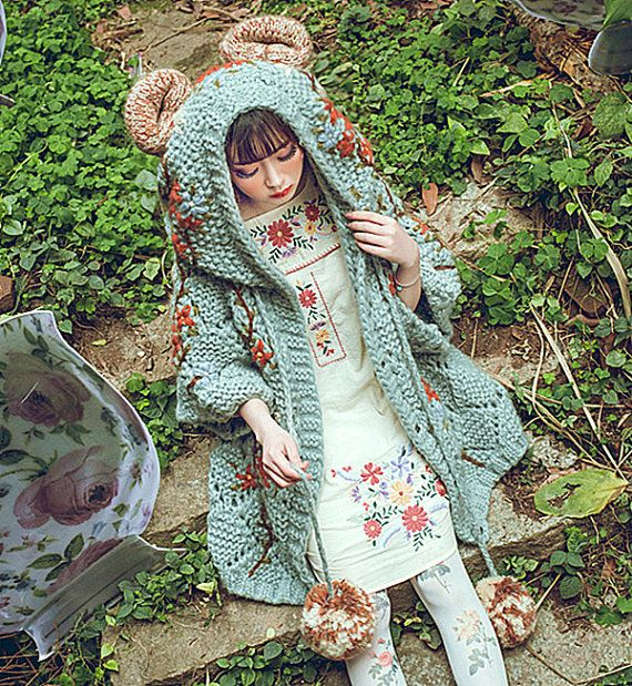 Every girl is a fairy in the forest!!! plus size poncho-Spring Coat with a Hood-Asymmetrical Hoody Cardigan /-Sweater Jacket bear Material: 50% cotton