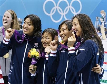 Swimming medley bronze medal