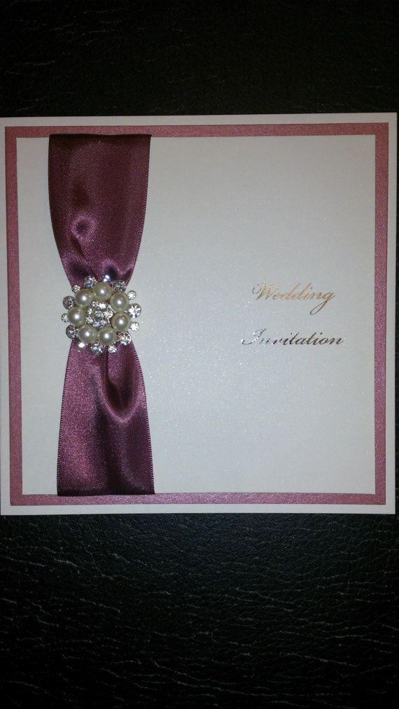 Invitation lovely handmade Wedding invitation by carolemaccards
