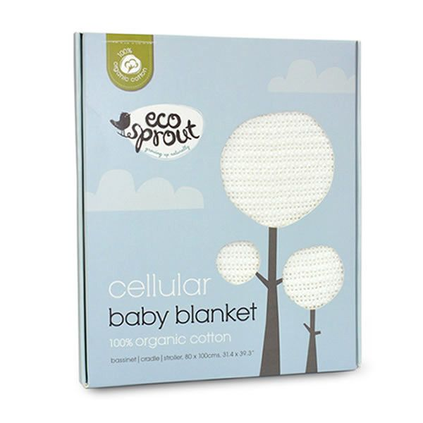 Ecosprout ORGANIC Baby Blanket - Cellular - Bassinet