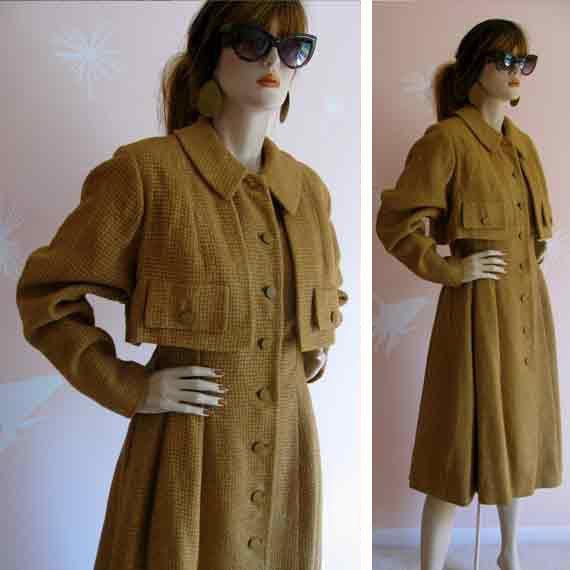 Lady Sherlock Vintage 1940s Woven Wool Tweed by gracevintage, $98.00