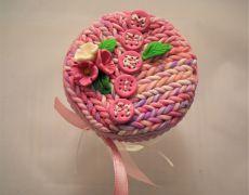 Borcanel personalizat MARIA - Borcanel decorat cu floricele