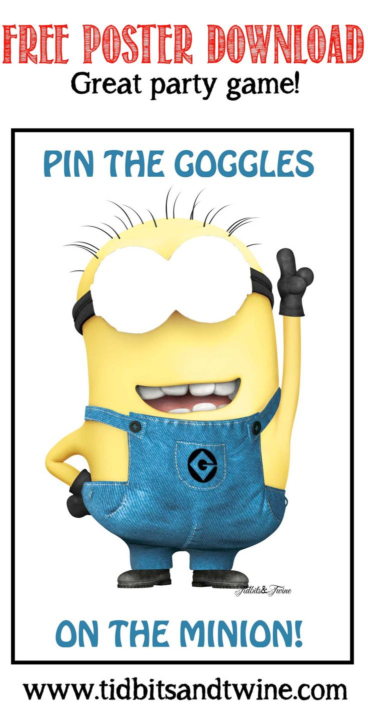 Download the full-size version of this Despicable Me Minion party game for FREE from Tidbits&Twine