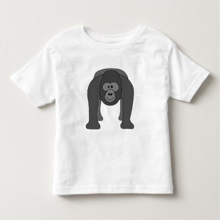 Cartoon Gorilla Toddler T-shirt - tap to personalize and get yours