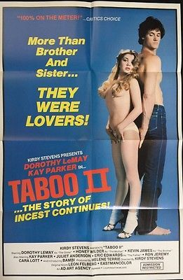 Taboo II 1982 Adult Movie Poster 26x39 Kay Parker Dorothy Lemay*GENUINE*