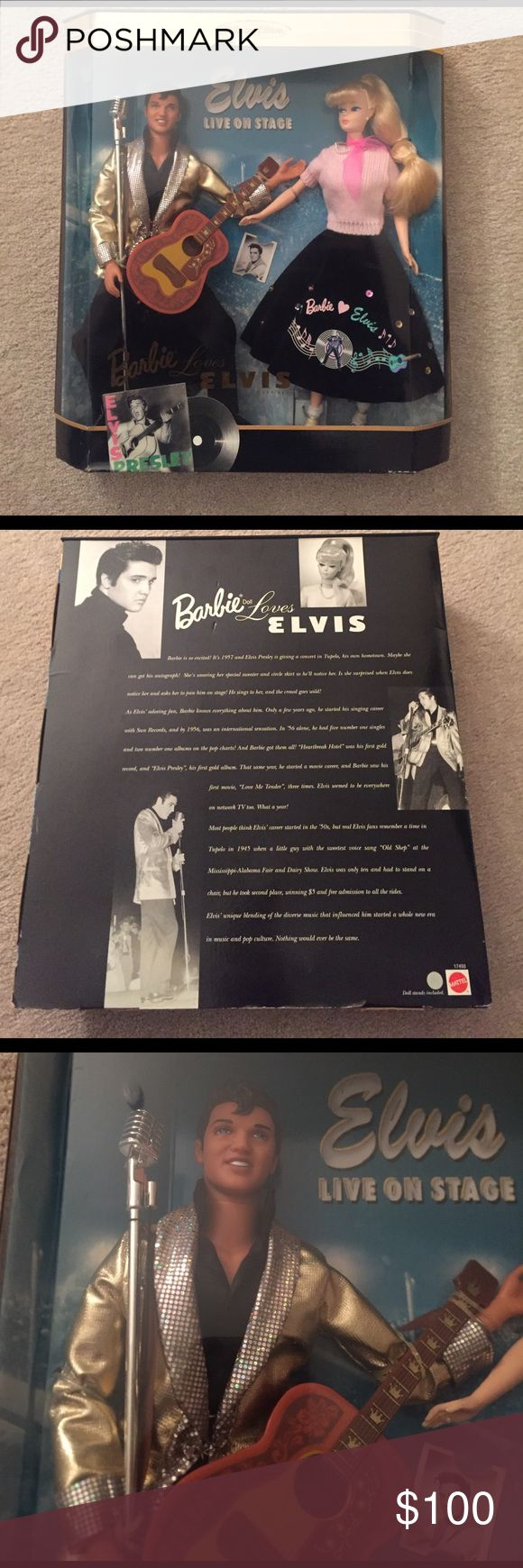 Rare Barbie Loves Elvis Collectors Item Never opened Barbie loves Elvis collectors item. Always open to offers! Sells for 160 on ebay. Barbie Other