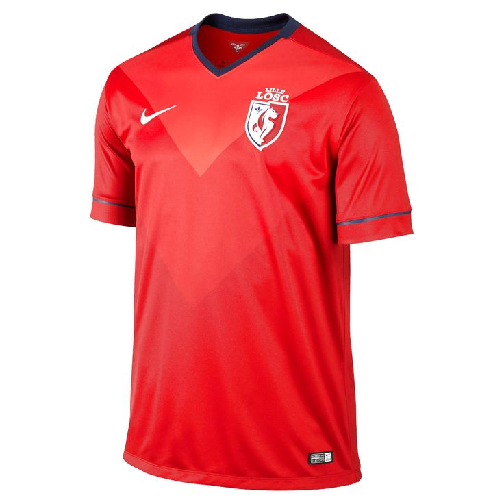 Lille OSC Nike Home Stadium Jersey - Red - $56.99