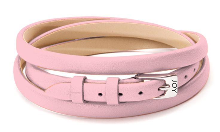 Joy de la Luz | Leather buckle bracelet rose