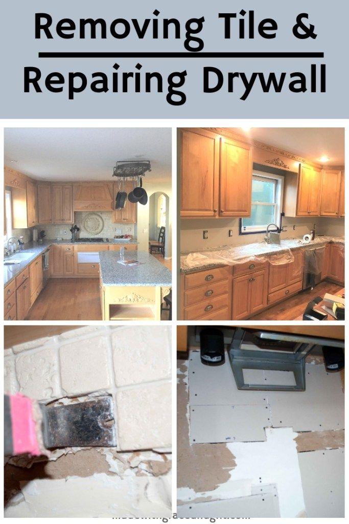 Removing Backsplash And Repairing Drywall Remove Tile Backsplash