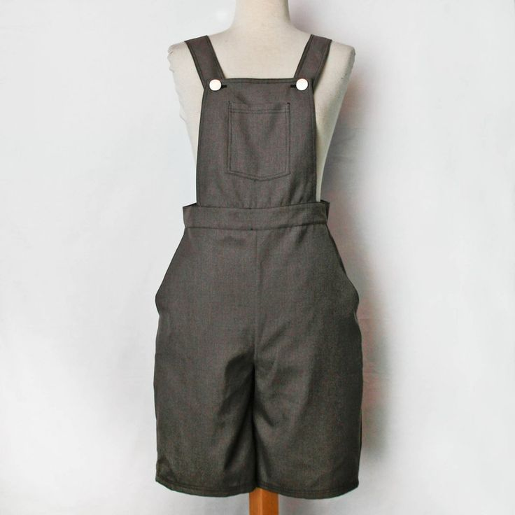 grey dungaree