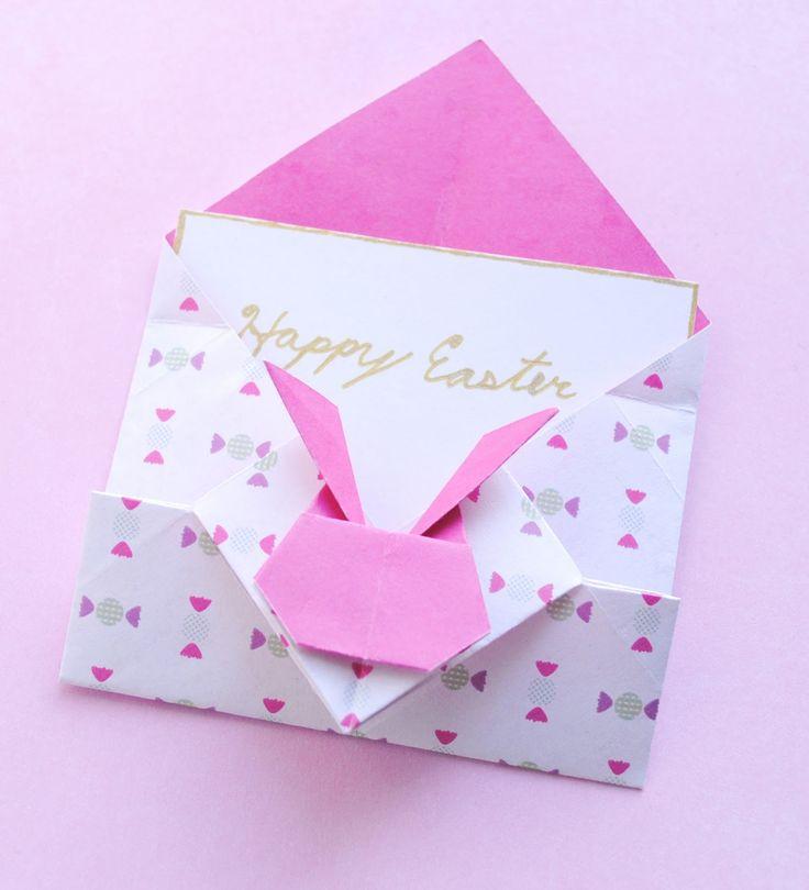 zakka life: Pretty Origami Bunny Envelopes