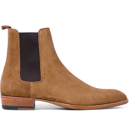 <a href='http://www.mrporter.com/mens/Designers/Saint_Laurent'>Saint Laurent</a> is known for reinventing the classics. A contemporary take on the traditional Chelsea boot popularised by mods in the '60s, this pair has been crafted in Italy from plush tan suede - a fine alternative to black that will complement a host of smart-casual looks. The elasticated side inserts ensure a comfortable fit.