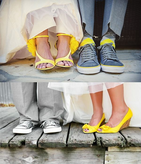 chaussures mariage jaune