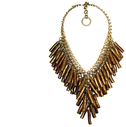 Jewellery by Karen sea bamboo and gold tone chain necklace.  Details: http://www.jewellerybykaren.com/boutique/necklaces/necklace-1040n