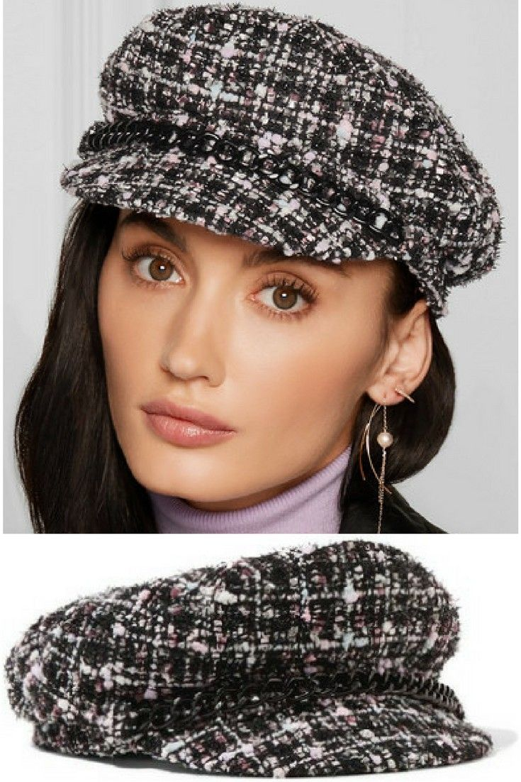 Eugenia Kim s  Marina  cap is inspired by vintage paperboy styles. It s  made from tactile tweed that s woven with pastel and metallic ya… 34c0af783b9a