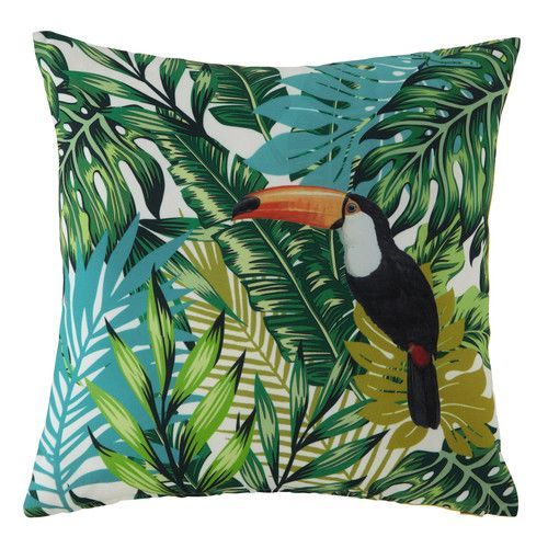 Toucan-tastic! #tropical #paradise #green #cushion