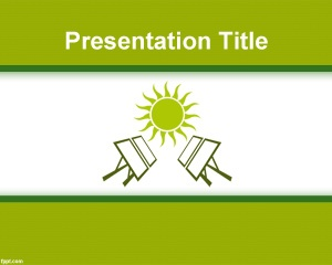 Solar Panel PowerPoint template is a free solar energy template for PowerPoint presentations that you can download for companies or business going green as well as other solar energy presentations