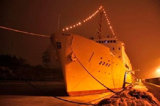 Bore Ship by night