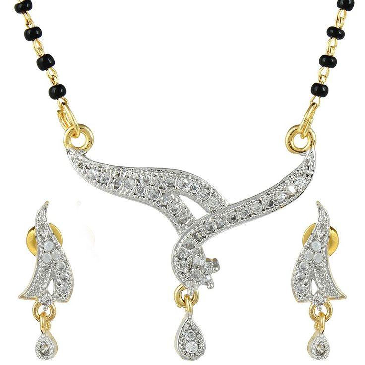 Elegant Wedding Gold Plated Mangalsutra Set