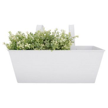 """Check out this item at One Kings Lane! 16"""" Balcony Flower Box, White"""