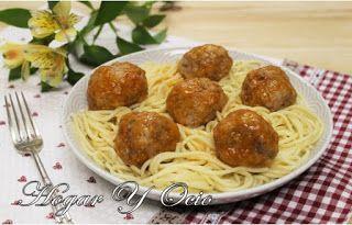"""Albóndigas con spaghetti - Hogar y Ocio - """"La Dama y el Vagabundo"""""""