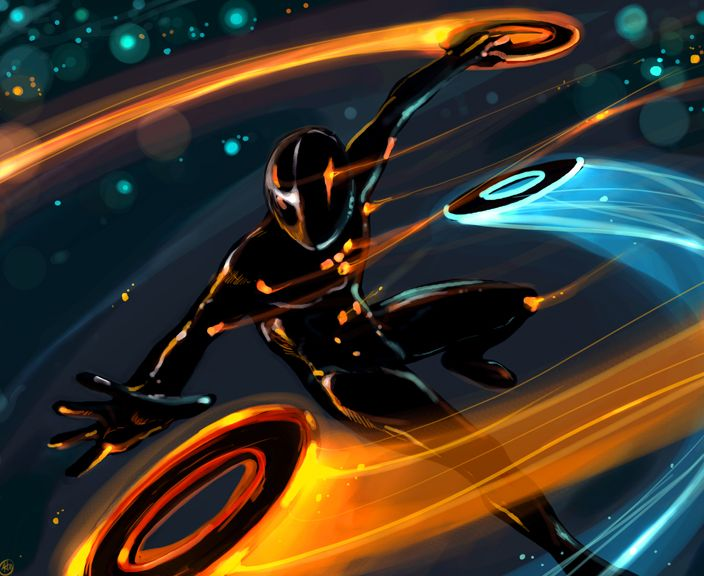 Rinzler by Luthie13.deviantart.com - #fanart Tron Legacy