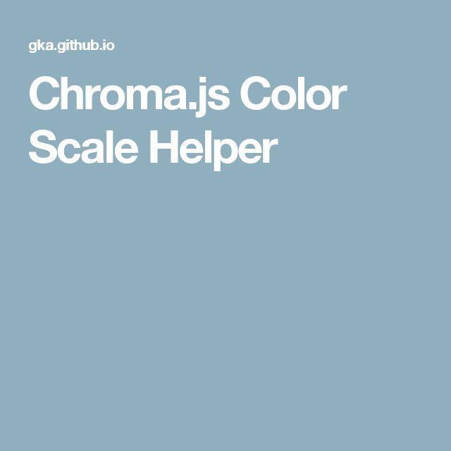 Chroma.js Color Scale Helper