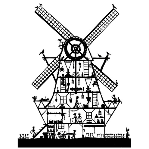 Windmill Designs Coloring Pages