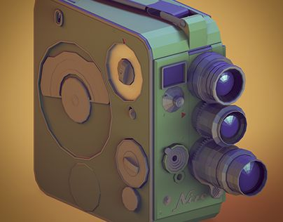 """Check out new work on my @Behance portfolio: """"The Camera Project - Low Poly - Part 1"""" http://on.be.net/1LQqMBz"""