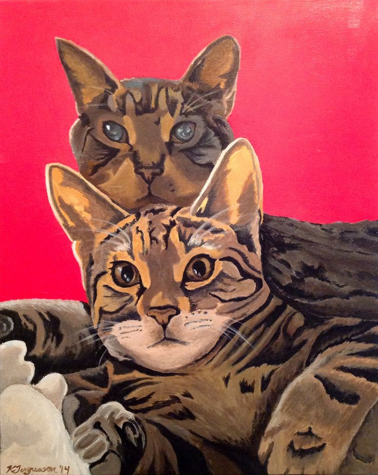 Eye catching and adorable 'Best Friends' is an acrylic painting by Kim Fergusson