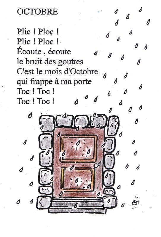 En ce début du mois d'octobre, voici un petit poème et un coloriage. bonne journée