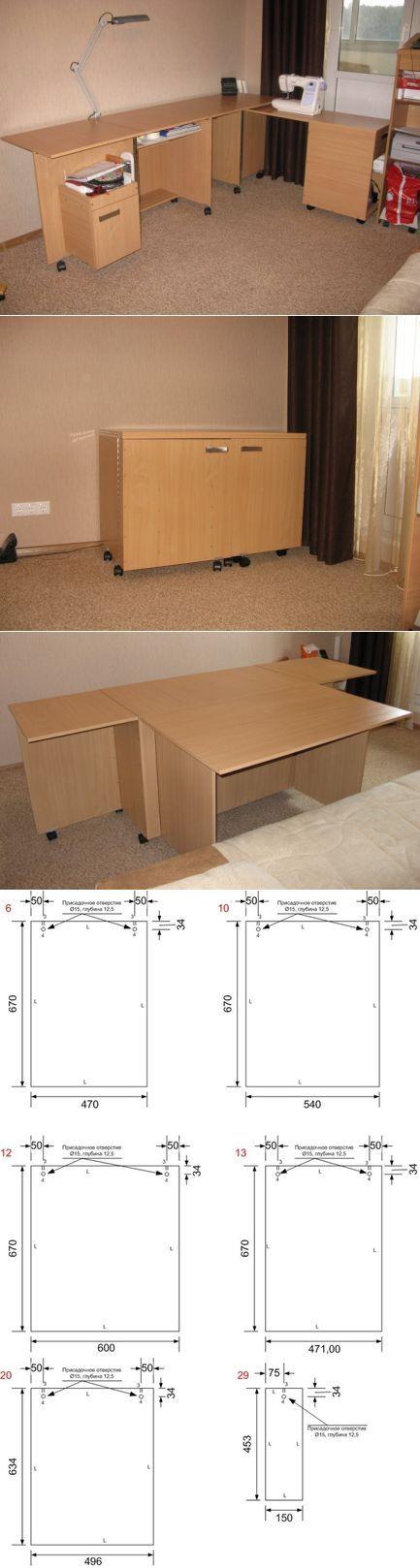Как сделать стол для шитья (Diy) ...<3 Deniz <3