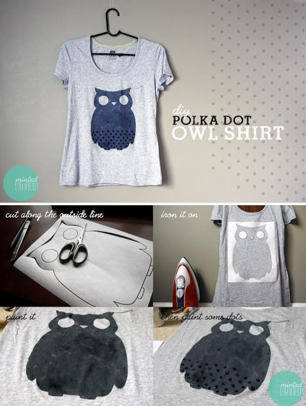 How to print an owl in your shirt