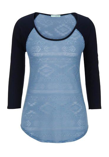 ethnic print baseball tee (original price, $26) available at #Maurices I own this shirt and like wearing it all the time.