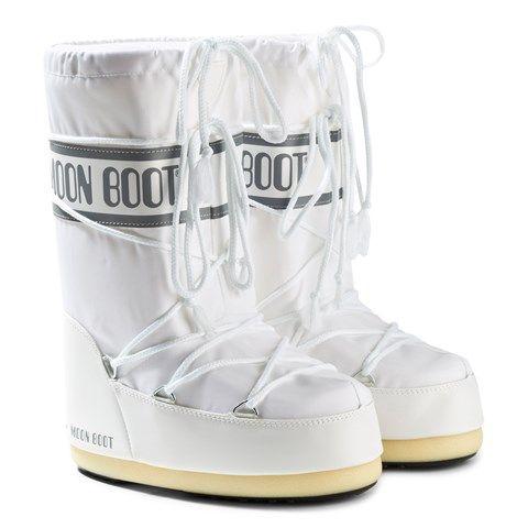 Moon Boot White Nylon Moon Boots