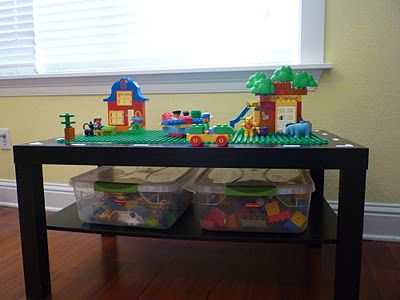 wow. great idea! DIY Duplo table  Ordered all the stuff to make Asher's for his big Xmas gift! So excited!