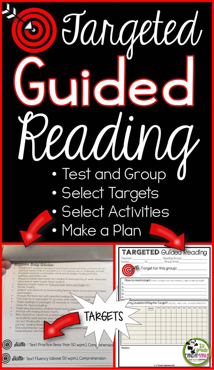TARGETED Guided Reading. A prescribed, targeted plan is needed for each guided reading group in order for your students to progress in reading. This Targeted Guided Reading Plan and Activities Flip Books will help keep you focused on the goal(s) for each group.