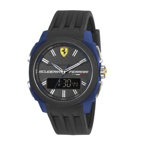 Scuderia Ferrari Aerodinamico Chronograph Watch Blue NEW #ferrari #ferraristore  #scuderiaferrari #watch #collection #new #aerodinamico #cronograph #exclusive #prancinghorse #cavallinorampante #passion #carbon #digital #display #alarm #data #timezone #waterproof