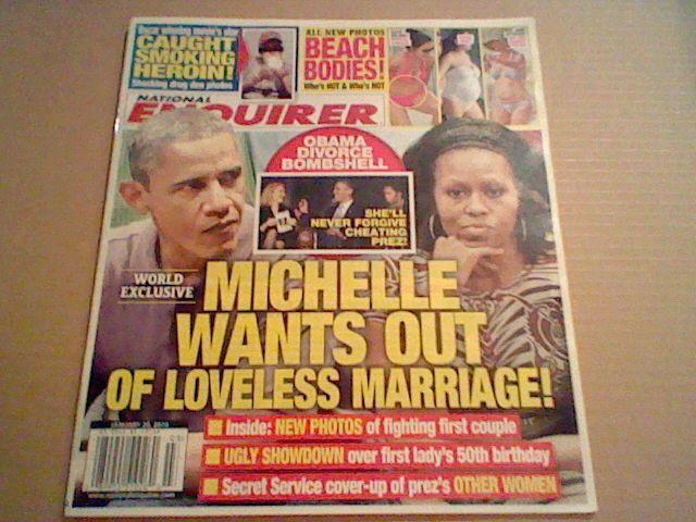 National Enquirer January 20,2014;Star Smoking Heroin;Beach Body;Obama Divorce