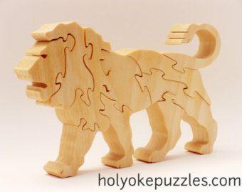 Lion Jigsaw Puzzle in Poplar