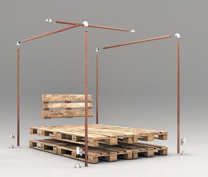 Willst Du ein schickes Himmelbett bauen, komplett schon für 170€, oder Dein Bett nachrüsten für 110€? Dann schau Dir diese DIY Idee mit Anleitung an: