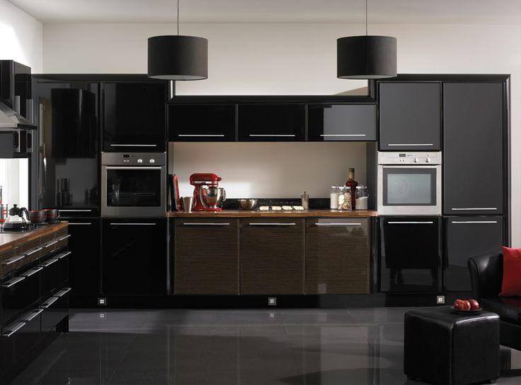 Black Kitchen Interior Design Ideas:terrific Awesome Black Kitchen Cabinets  Design Ideas