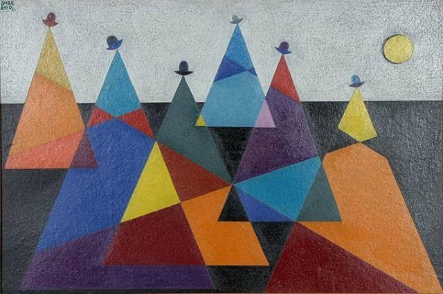 """Mountains"" - Omar Rayo"